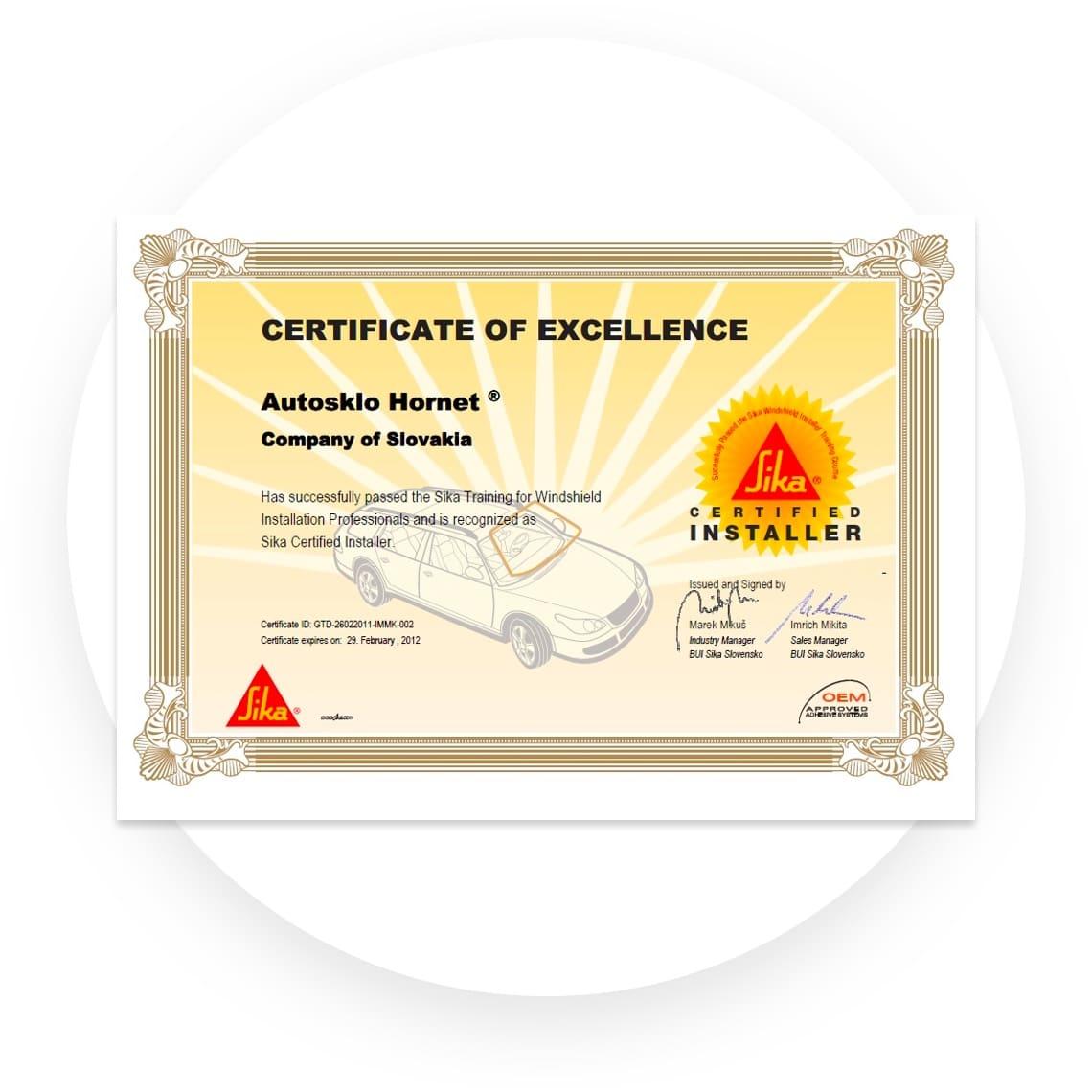image onaas certifikat